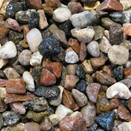 Multi-Coloured River Rock